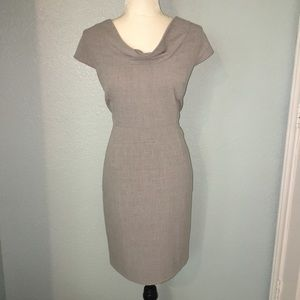 Calvin Klein Gray Sheath Dress Cowl Neckline 12P